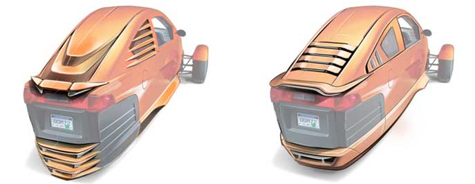 Elio Motors rear body accessories - Concept to Production