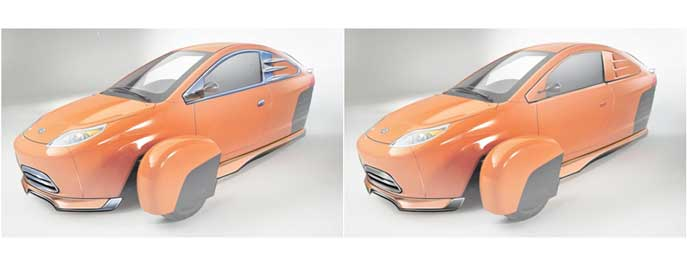 Elio Motors front body accessories- Concept to Production